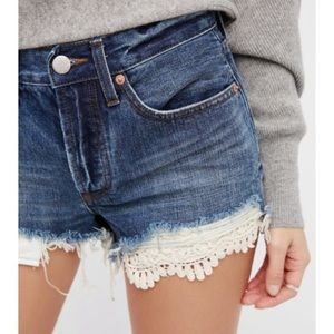Free People Daisy Chain Lace Shorts Size 27